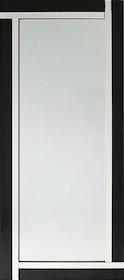 Proste lecz eleganckie, nowoczesne, potężne lustro w klasycznej ramie. Rama lustra wykonana jest z lusterek oraz czarnego szkła. Lusterka posiadają fazę....
