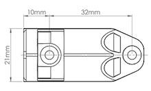 Airtic-Adapter Podwójny do Hamulca do Drzwi Nakładanych Popiel - Airtic Professional