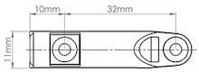Airtic - Adapter Do Hamulca Do Drzwi Nakładanych 32 Biały - Airtic Professional