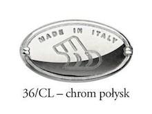 "Uchwyt Typu ""muszelka"" 15120 Chrom Połysk Rozstaw 64 mm - Bosetti-Marella"