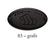 Gałka 24316 Grafit i Czarna Porcelana fi 35 - Bosetti-Marella