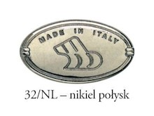Uchwyt 15136 Nikiel i Czarna Porcelana rozstaw 128 mm - Bosetti-Marella