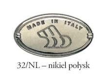 Gałka 24316 Nikiel i Czarna Porcelana fi 35 - Bosetti-Marella