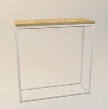 Konsola CHIMERA  Prosta forma stolika łączy w sobie minimalistyczny styl skandynawski z surowością industrialnych wnętrz. Blat drewniany z...