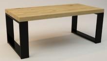 STOLIK KAWOWY GUSTO STRONG  Prosta forma stolika łączy w sobie minimalistyczny styl skandynawski z surowością industrialnych wnętrz. Blat drewniany...