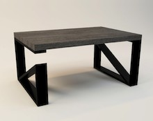 STOLIK KAWOWY MODERN  Prosta forma stolika łączy w sobie minimalistyczny styl skandynawski z surowością industrialnych wnętrz. Blat drewniany z...