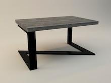 STOLIK KAWOWY ZEFIR  Prosta forma stolika łączy w sobie minimalistyczny styl skandynawski z surowością industrialnych wnętrz. Blat drewniany z...