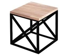 STOLIK KAWOWY BRIDGE Prosta forma stolika łączy w sobie minimalistyczny styl skandynawski z surowością industrialnych wnętrz. Blat drewniany z widocznymi...