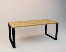 Stół OLAF  Prosta forma stołu idealnie wpasowuje się w nowoczesne wnętrza. Blat drewniany z widocznymi słojami, może być lekko postarzane w...