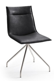 Krzesło ALESSIA A, czarna skóra ekologiczna