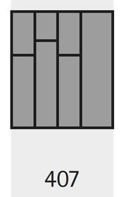 Wkład na sztućce OrgaTray 590 407 x 462 mm SREBRNY - Hettich
