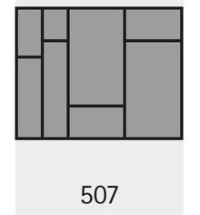 Wkład na sztućce OrgaTray 590 507 X 462 mm SREBRNY - Hettich