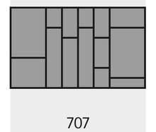 Wkład na sztućce OrgaTray 590 707 x 462 mm SREBRNY - Hettich