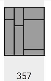 Organizery kuchenne Wkład na sztućce OrgaTray 590 357 x 462 mm ANTRACYT - Hettich