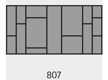Wkład na sztućce OrgaTray 590 807x 462 mm ANTRACYT - Hettich