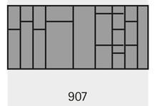 Organizery kuchenne Wkład na sztućce OrgaTray 590 907 x 462 mm ANTRACYT - Hettich