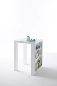 Wymiary: szerokość 80 cm wysokość 108 cm głębokość 80 cm nogi 10 x10 cm  Materiał:  -płyta lakierowana na wysoki połysk -blat: szkło malowane...