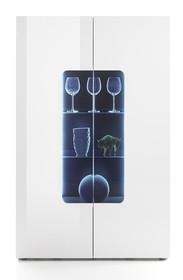 Warianty kolorystyczne:  -biały - lakier wysoki połysk -wnęka za szkłem  Wymiary całkowite:  -szerokość 110 cm -wysokość 161 cm...