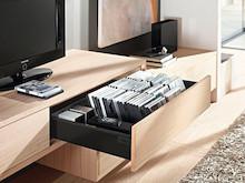 Zestaw elementów do wykonania szuflady Tandembox Antaro z hamulcem BLUMOTION. Do samodzielnego montażu. Bok K=115mm Długość prowadnic 400mm Kolor...