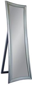 Eleganckie, nowoczesne lustro stojące w srebrnej ramie. Rama lustra wykonana jest z masy PU i pokryta srebrnym szlagmetalem. Szlagmetal to cieniutkie listki...
