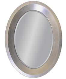 Eleganckie lustro w posrebrzanej, prostej, owalnej ramie. Rama lustra wykonana jest z masy PU i pokryta srebrnym szlagmetalem. Szlagmetal to cieniutkie listki...