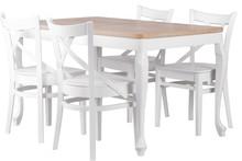 Stół pensylwania to piękne połączenie białego połysku z naturalnym blatem dębowym. System rozkładania na prowadnicy kulkowej, wkładki stołu chowane...