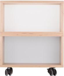 Zgrabny kontenerek z dwoma półkami wykonany z sklejki brzozowej.  Idealne uzupełnienie biurek z kolekcji KÓŁKO KRZYŻYK.  Kontenerek dostępny...