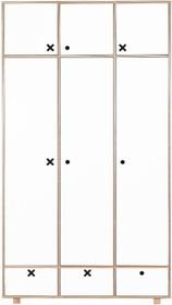 Bardzo pojemna szafa, dopasowana stylistycznie do wszystkich innych elementów kolekcji Kółko Krzyżyk.  W prawym segmencie znajduje się pięć półek,...