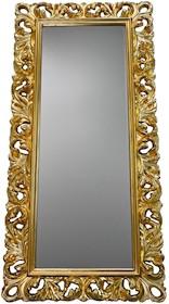 Rama lustra wykonana jest z masy PU. Pokryta jest złotym szlagmetalem. Szlagmetal to cieniutkie listki metalu ręcznie nakładane i przecierane kamieniem...