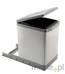 Sortownik na śmieciPAL609/1 Wykonany z tworzywa oraz metalu - ALU Montowany do dna szafki. Pokrywa podnoszona automatycznie. Pojemność 17l.