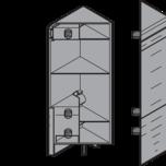 """INTIVO mocowanie frontu i ściany tylnej szuflady narożnej wysokiej """"D"""", Białe ZSF.535E Mocowanie frontu do szuflady TANDEMBOX INTIVO Rodzaj..."""