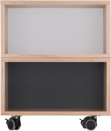 Zgrabny kontenerek z dwoma półkami wykonany z sklejki brzoza. Idealne uzupełnienie biurek z kolekcji KÓŁKO KRZYŻYK. Występuje w dwóch opcjach...
