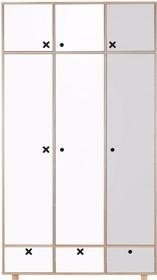 Bardzo pojemna szafa, dopasowana stylistycznie do wszystkich innych elementów kolekcji Kółko Krzyżyk. W prawym segmencie znajduje się 5 półek,...