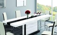 Stół PIANOSA rozkładany EXCLUSIVE biały/czarny połysk