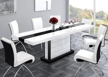 Stół PIANOSA biały/czarny rozkładany EXCLUSIVE