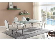 Stół Glamour T925 Biały blat. Stół jest stworzony dla ludzi wymagających, ceniących przestrzeń, dbających o ład i harmonię każdego wnętrza....