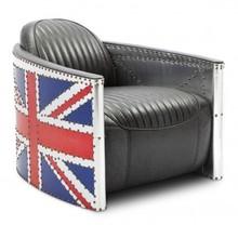 Fotel Uk Flat Materiał wykonania: - Vintage Leather - Aluminium Wymiary :  -głębokość: 84 cm -szerokość: 98 cm -wysokość: 72 cm