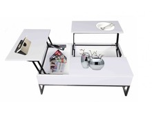 Funkcjonalny stolik kawowy - biały