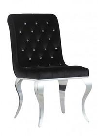 Przepiękne krzesło wykonane na bogato. Bijou Steel to miła w dotyku czarna velurowa tkanina, błyszczące kryształki i oryginalne nóżki. Wspaniale...