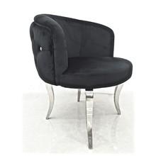 Krzesło welurowe EMPORIO GLAMOUR - czarny
