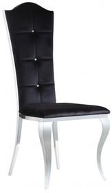 Przepiękne krzesło wykonane na bogato . Krzesło to miła w dotyku czarna velurowa tkanina, błyszczące kryształki i oryginalne nóżki....