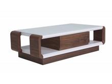 Nowoczesny stolik kawowy z szufladami cj0165