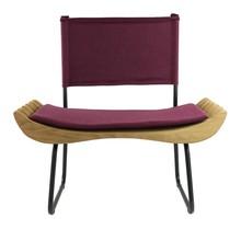 Fotel ORGANIQUE burgundowy