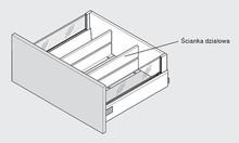 Ścianka Działowa Z46L Do Tandembox dł.50cm Szara - Blum
