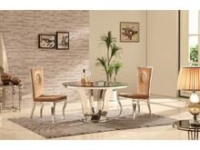 T909 to bardzo efektowny stół, który stanie się ozdobą każdego pomieszczenia.  Będzie doskonałym rozwiązaniem do salonu lub eleganckiej jadalni, a...