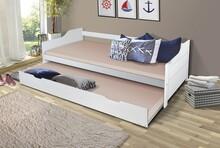 BUFALO łóżko dziecięce podwójne-rozsuwane.  Uwaga: KOMPLET NIE ZAWIERA PODUSZEK OPARCIA ORAZ MATERACY!!!  Komplet BUFALO zawiera: Konstrukcję...