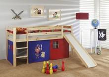 Łóżko dziecięce LEONE - KORSARZ czerwono-granatowe