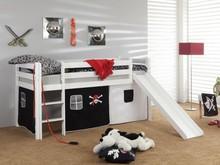 Łóżko dziecięce LEONE - PIRAT czarne