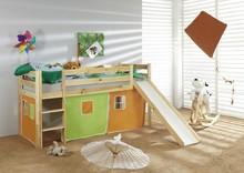 Łóżko dziecięce LEONE pomarańczowo-zielone