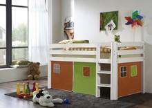 Łóżko dziecięce LUPO pomarańczowo-zielone